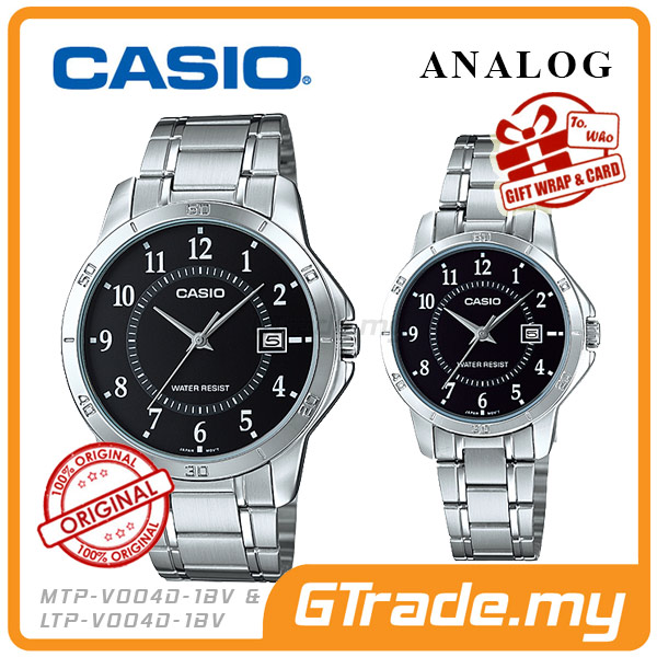 CASIO STANDARD MTP-V004D-1BV & LTP-V004D-1BV Analog Couple Watch