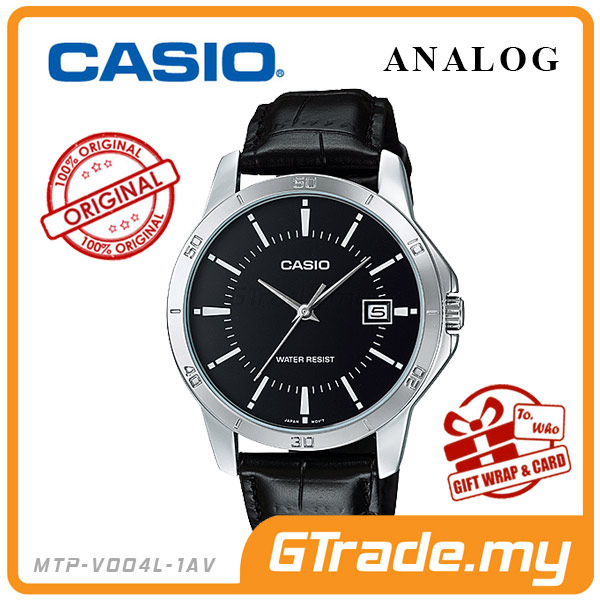 CASIO STANDARD MTP-V004L-1AV Analog Mens Watch | Easy Leather
