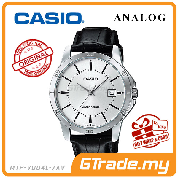 CASIO STANDARD MTP-V004L-7AV Analog Mens Watch | Easy Leather