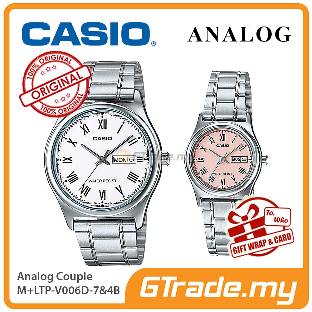 CASIO STANDARD MTP-V006D-7BV & LTP-V006D-4BV Analog Couple Watch