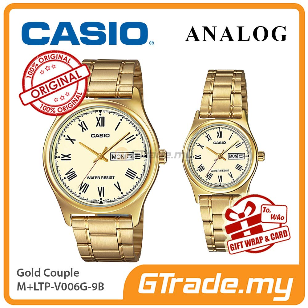CASIO STANDARD MTP-V006G-9BV & LTP-V006G-9BV Analog Couple Watch