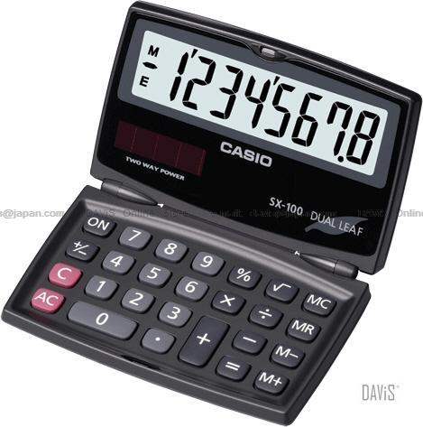 CASIO SX-100 Calculator Practical Value Series Portable Type Dual Leaf