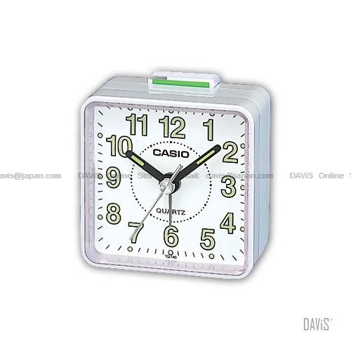 CASIO TQ-140-7 analogue wake up timer daily alarm luminous marks white