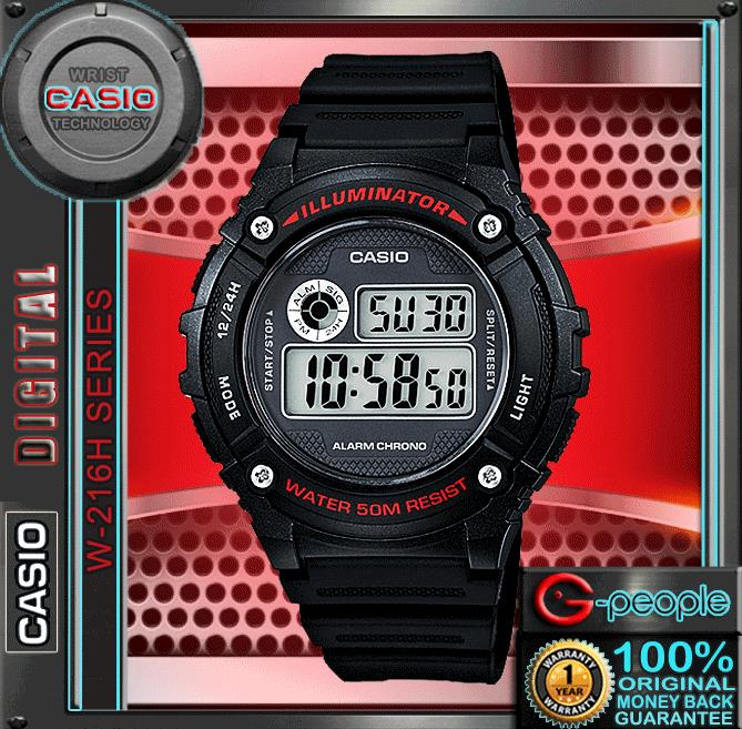CASIO W-216H-1AV STANDARD DIGITAL WATCH ☑ORIGINAL☑