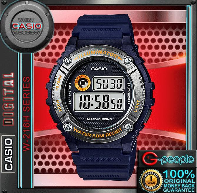 CASIO W-216H-2BV STANDARD DIGITAL WATCH ☑ORIGINAL☑
