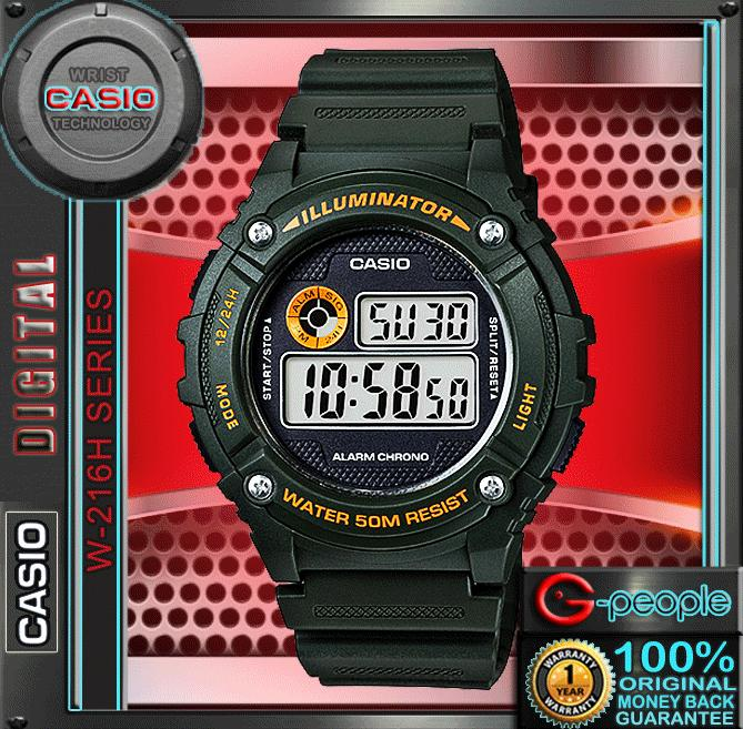 CASIO W-216H-3BV STANDARD DIGITAL WATCH ☑ORIGINAL☑