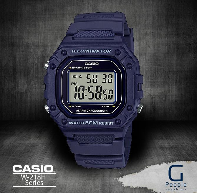 CASIO W-218H-2AV / W-218H-2A DIGITAL WATCH 100% ORIGINAL