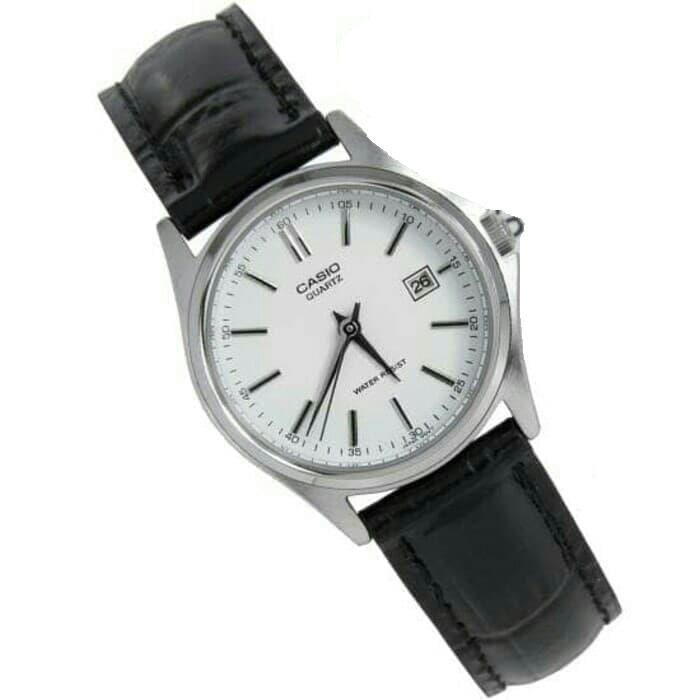 Casio  Women's Analog Date Display Leather Watch