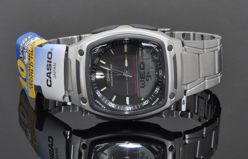 Casio World Time 10 Years Battery Watch AW-81D-1AVDF