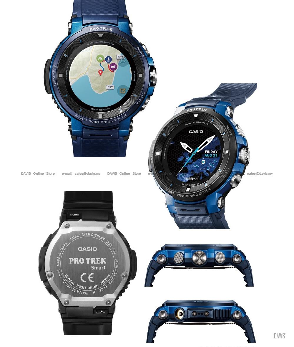 CASIO WSD-F30 Pro Trek Smart GPS touchscreen android iOS bluetooth