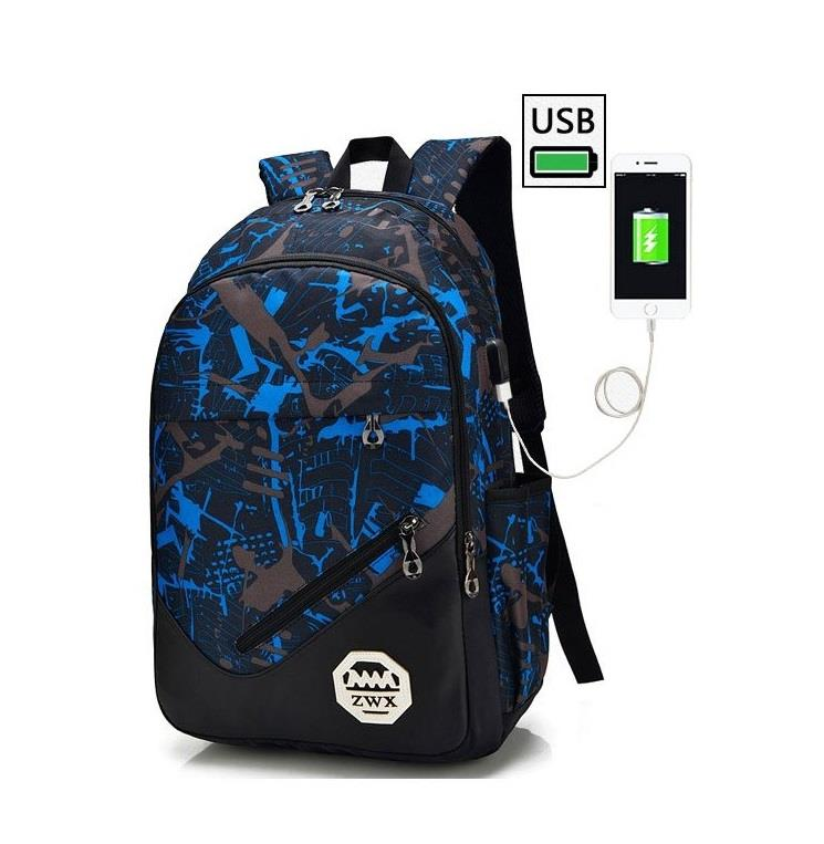 Casual Messenger Sling Bag 3 In 1 USB charging Men Travel Triangle Bag