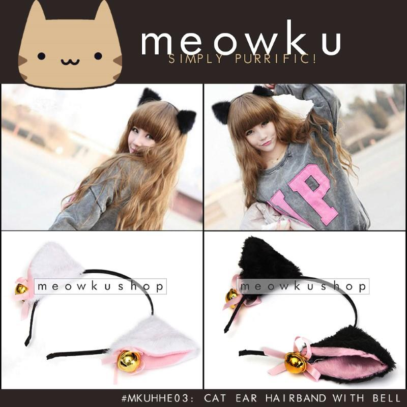Cat Ear Hairband with Bell Headband (Cute Girls Cosplay Costume Cekak)