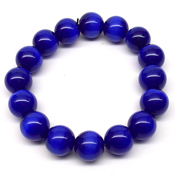 Cat's Eye Bracelet (Blue) (L)