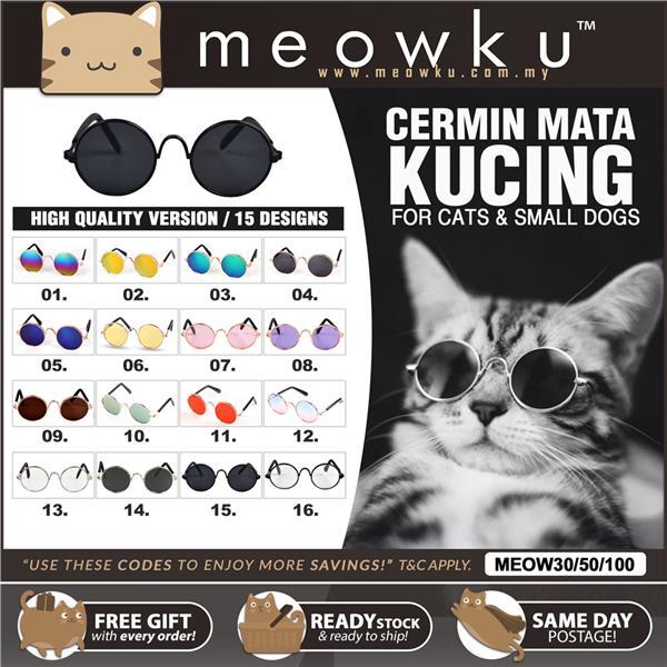 0abaa34930c Cat Sunglasses Glasses Shades Spectacles (Pet Cermin Mata Kucing)