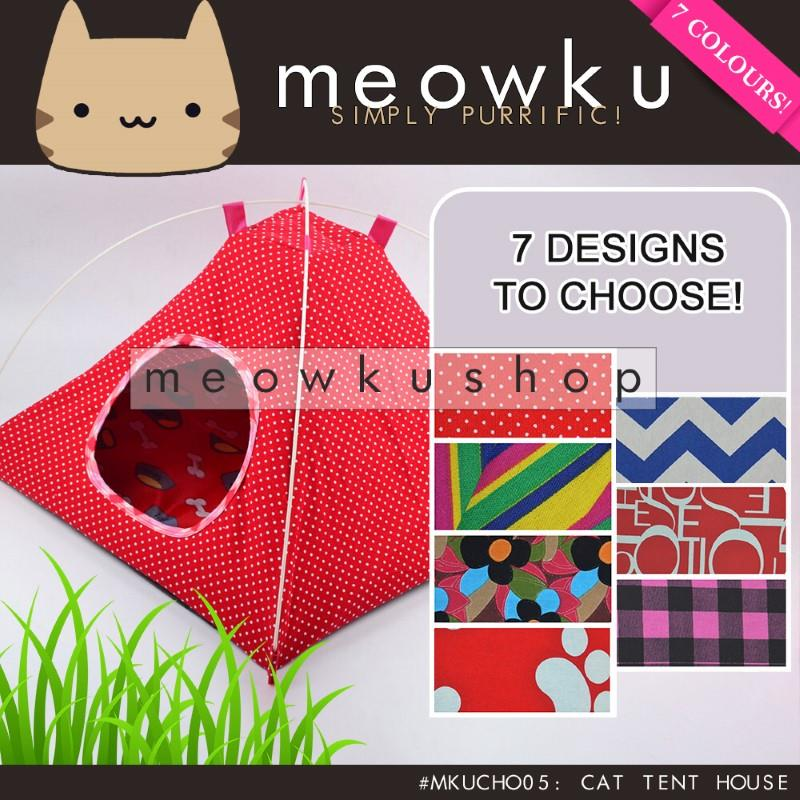Cat Tent (Pet Dog House Cotton Playground Bed Cute Kucing Murah)