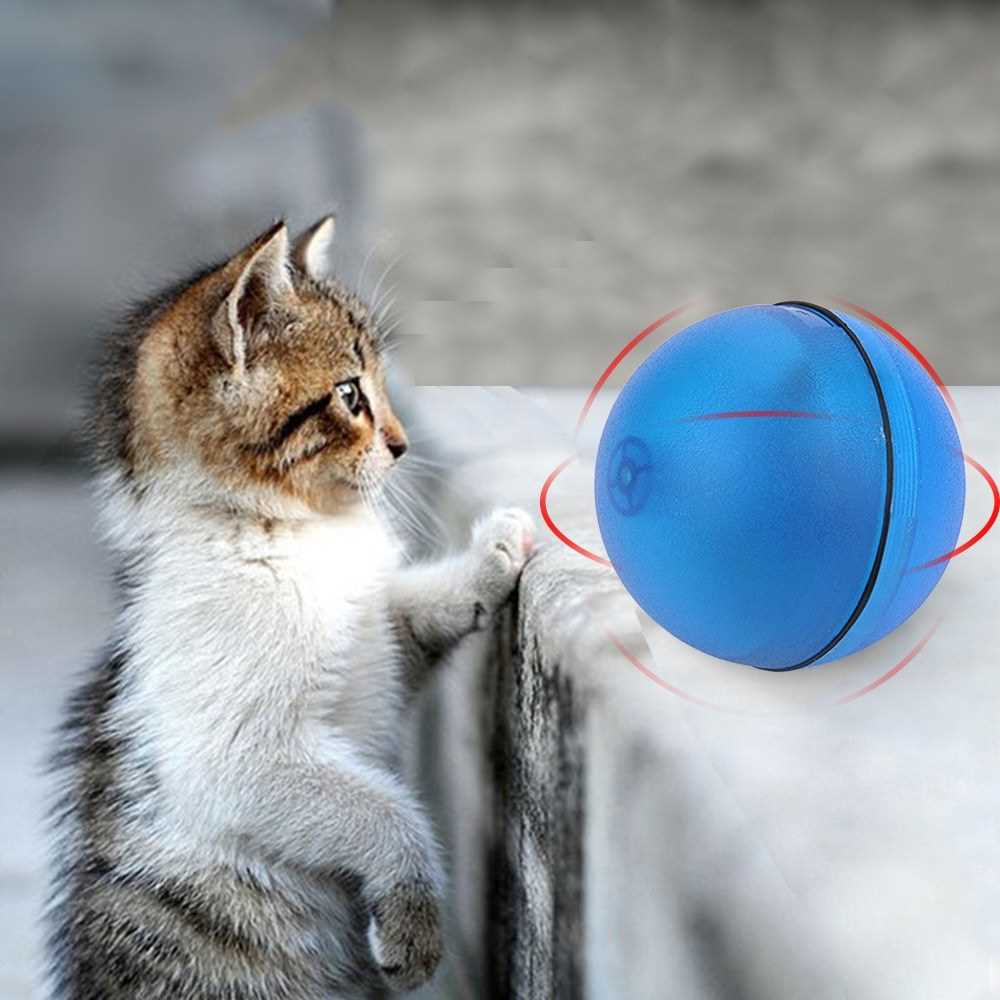 Cat Toy Rolling Ball LED Red Light Motion Activated Ball Pet