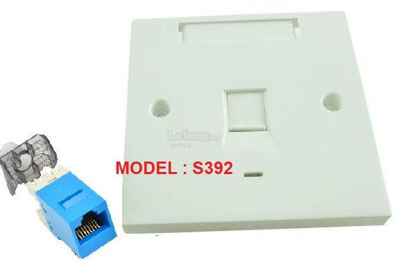 CAT6 with Keystone Jack Single Port Faceplate (S392)