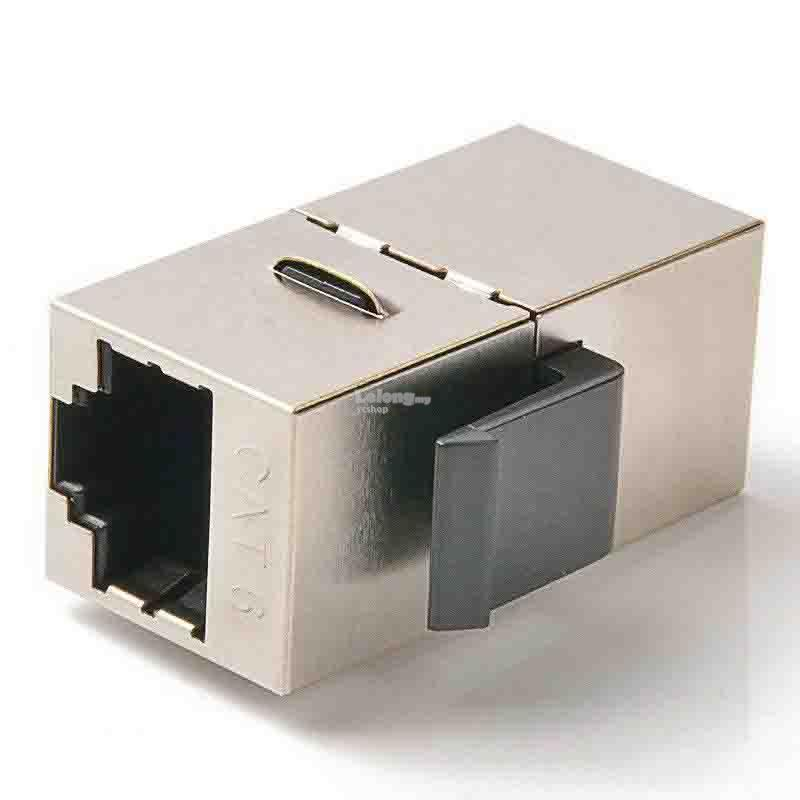 Cat6 with Shielded Keystone Jack Double Port Faceplate (S576)