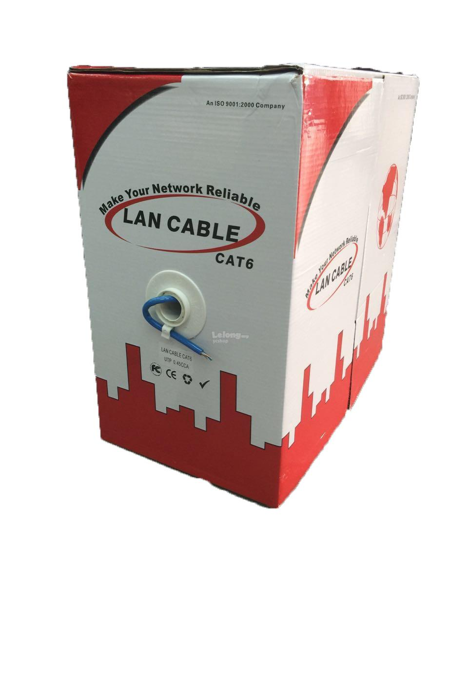 CAT6 UTP NETWORK CABLE 305M 1BOX (F2729)