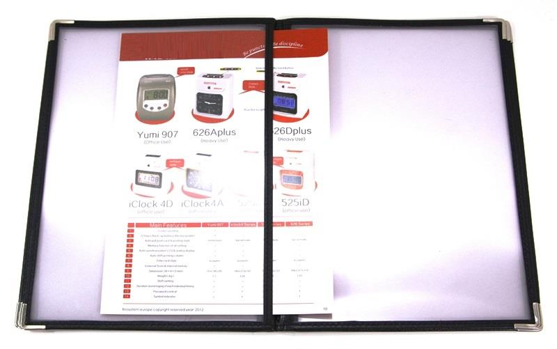 Catalog Menu Holder File A4 Size 6 Sheets 12 Pages Restaurants