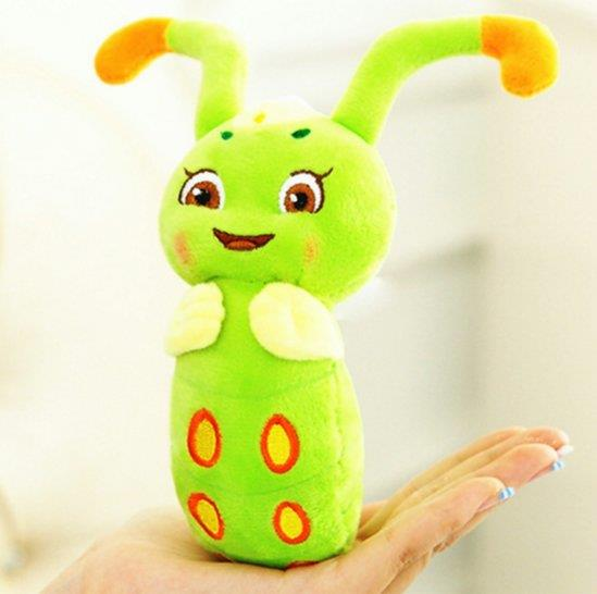 Caterpillar 20cm with sound and can talk + free 3D sticker