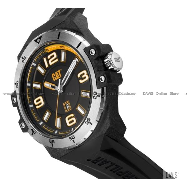Caterpillar CAT Watches K0.111.21.137 Nomad Date Silicone Black Carbon