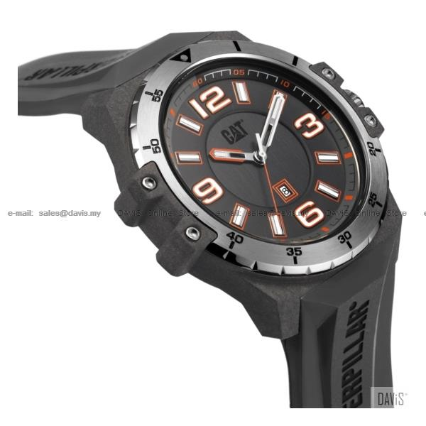 Caterpillar CAT Watches K0.151.25.531 Nomad Date Silicone Grey Carbon