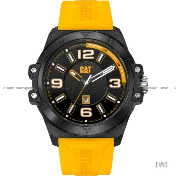 Caterpillar CAT Watches K0.161.27.137 Nomad Date Silicon Yellow Carbon