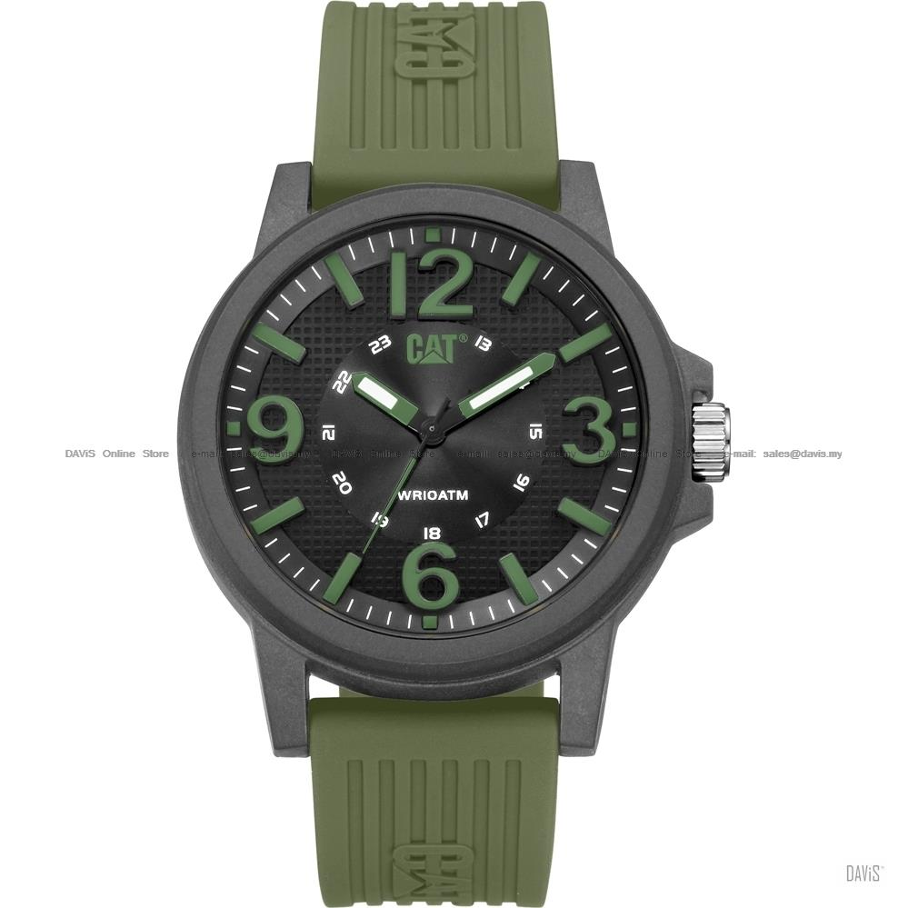 Caterpillar CAT Watches LF.111.23.133 GROOVY Silicone Military Green