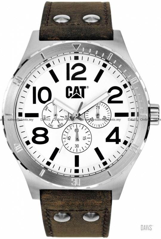 Caterpillar CAT Watches NI.149.35.232 CAMDEN 48mm Multi Leather White