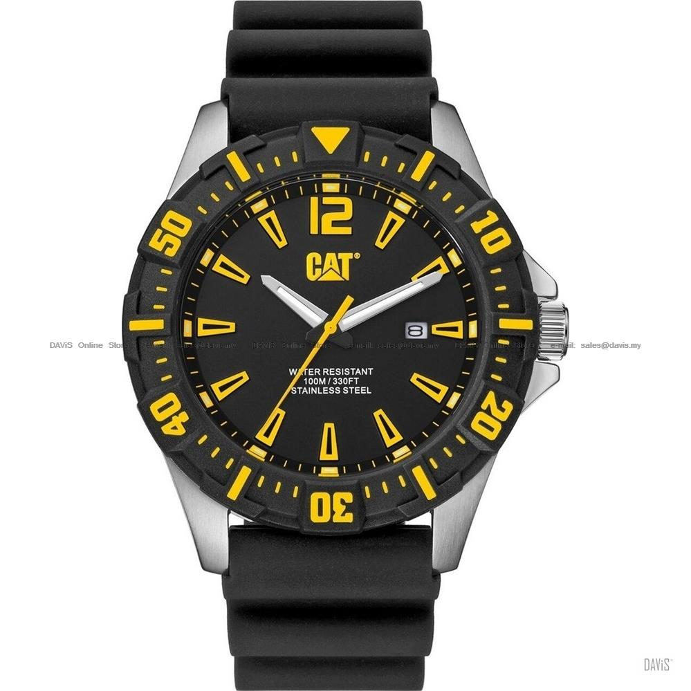 Caterpillar CAT Watches PX.141.21.137 STEER Date Silicone Black Yellow
