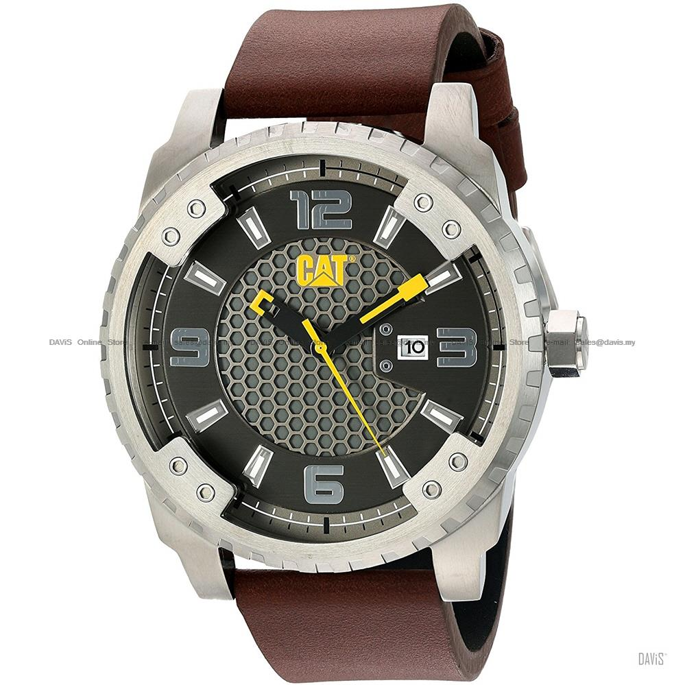 Caterpillar CAT Watches SC.141.35.521 GRID Date Leather Black Brown