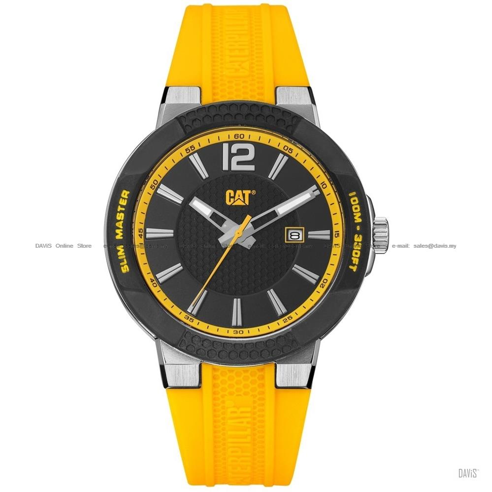 Caterpillar CAT Watches SH.141.27.131 SHOCK Slim Silicone Strap Yellow