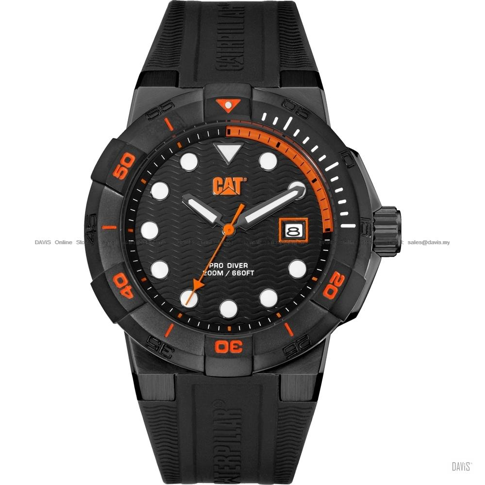 Caterpillar CAT Watches SI.161.21.124 SHOCK Diver Silicon Black Orange