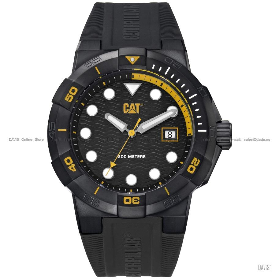 Caterpillar CAT Watches SI.161.21.127 SHOCK Diver Silicon Black Yellow