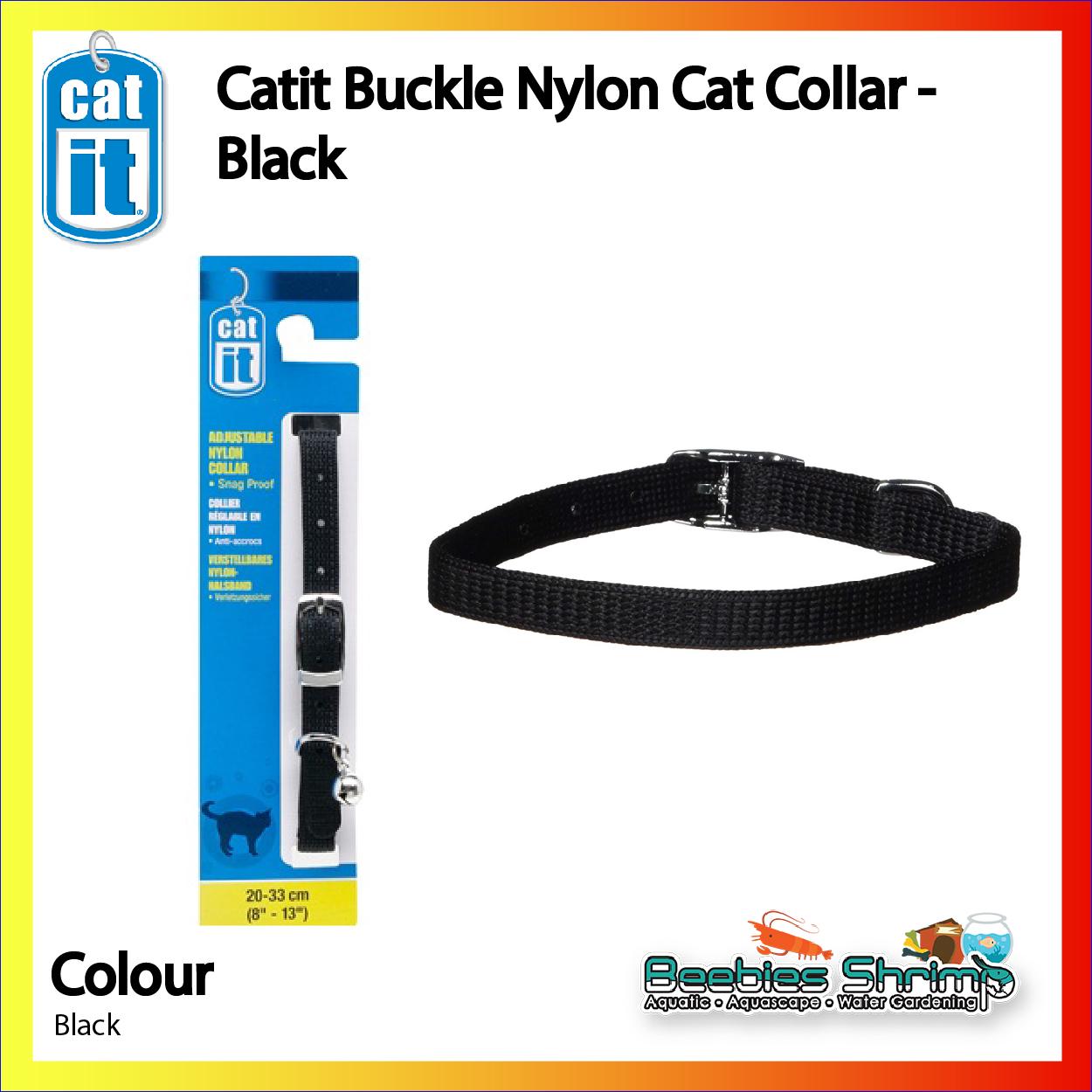 Catit Nylon Adjustable Cat Collar Black