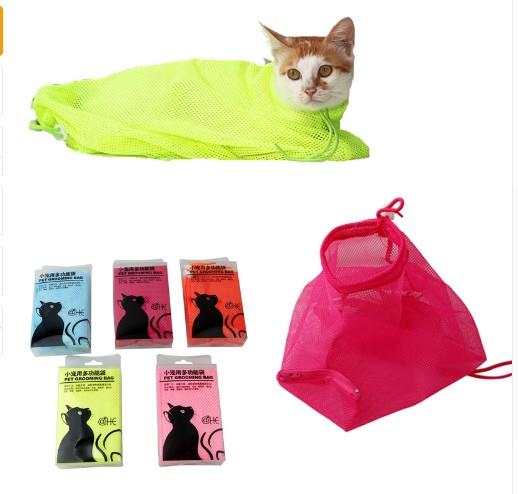 Cats Grooming Bathing Mesh Bag No Scratching