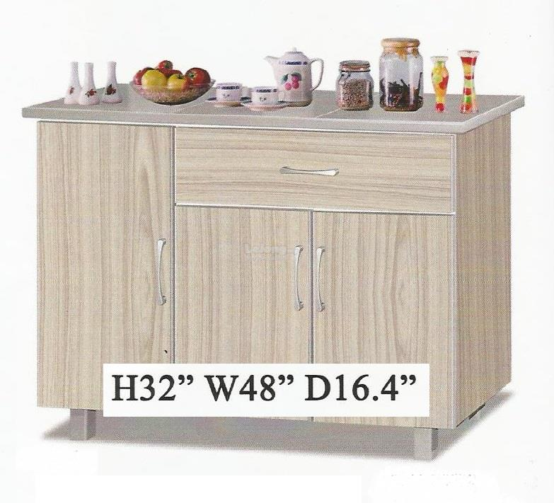 CAZORLA 4fth 3doors Kitchen Cabinet