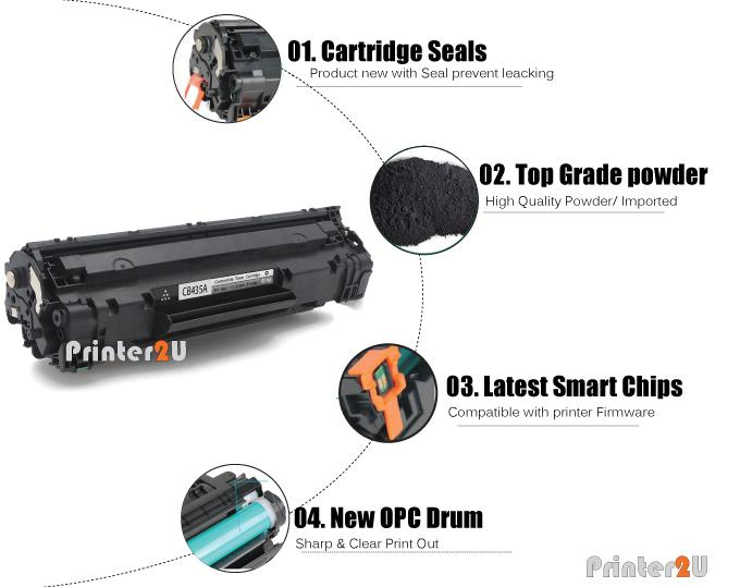 CB435A/35A Compatible HP P1005 P1006 P 1005 1006 Laser Printer Toner