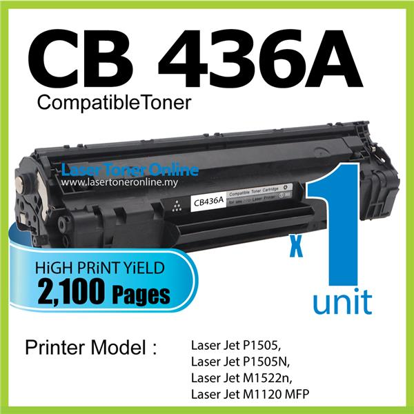 CB436A 36A Compatible HP LaserJet M1522N M1522NF M1522MT Printer Toner