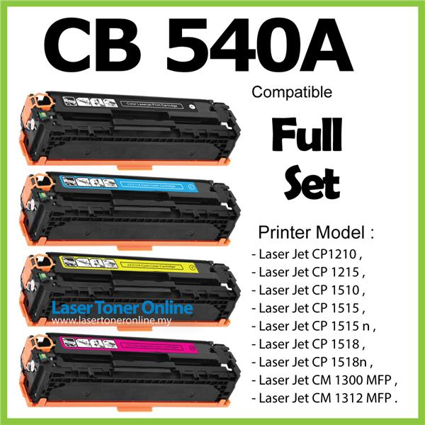 CB540A/CB 540A/541A/542A/543A Compatible HP 125A CP1510 CP1518n Color