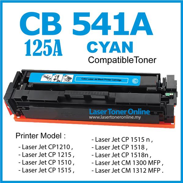 CB541A/125A 125 Color C Compatible-HP Laser Jet CP1215 CP1515n CP1518n