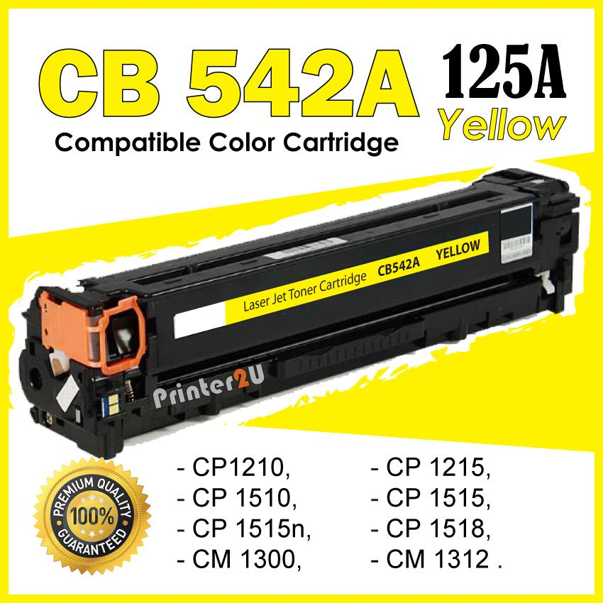 CB542A 125A Yellow Y Compatible-HP LaserJet CP1215 CP1515n CP1518n 125