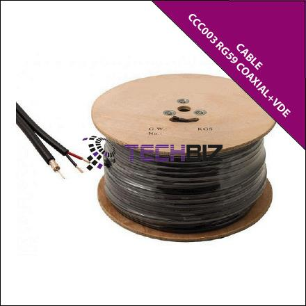 CCC003-RG59 Coaxial + VDE Power cable (30/0.15mm); 2-in-1