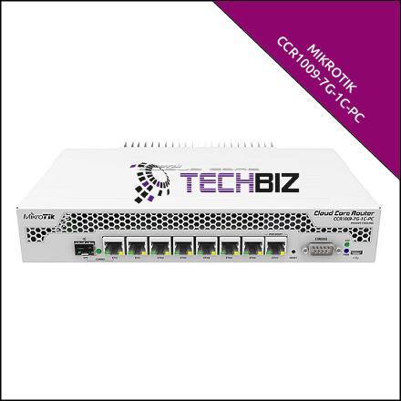 CCR1009-7G-1C-PC Mikrotik 8 port SFP MPLS Gigabit Router Cloud