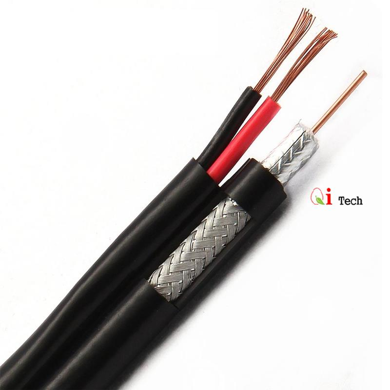 CCTV Coaxial Cable and Power Cable with Connectors - FULL COPPER