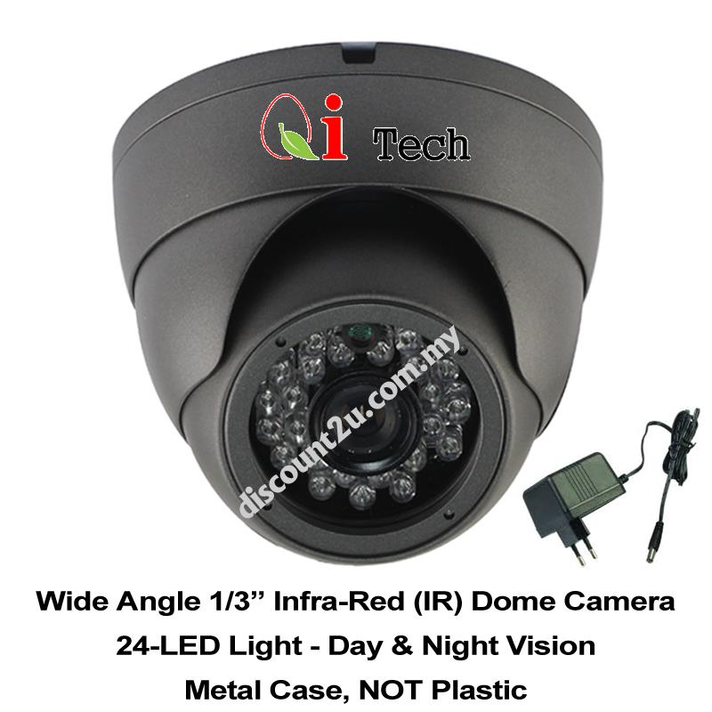 CCTV LED IR Dome Camera 1/3' + Power Adapter - AHD 960P 1.3MP
