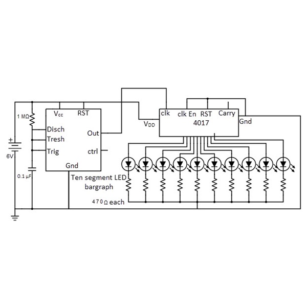CD4017BE Decade Counter Divider IC