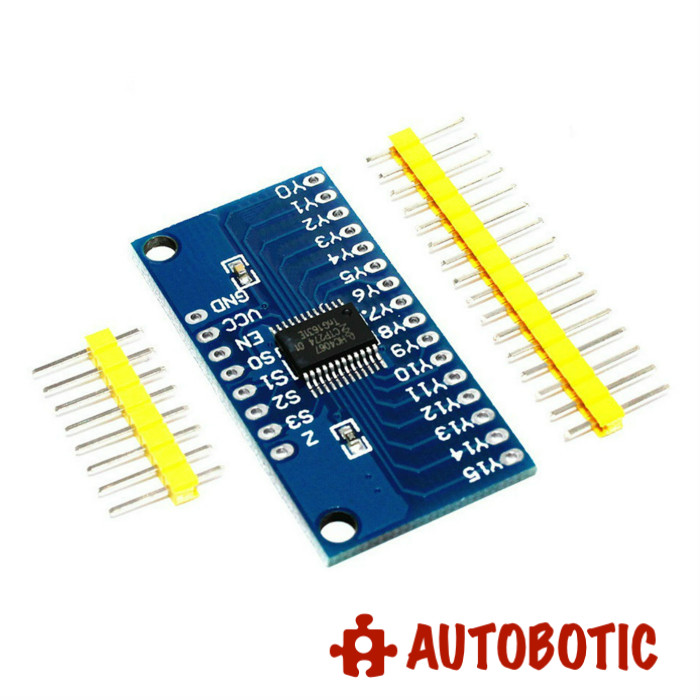 CD74HC4067 CMOS 16 Channel Analog Digital Multiplexer Breakout Module