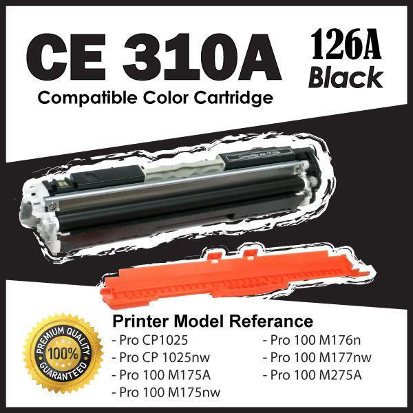 CE310A CE 310A 126 Black Color Compatible HP Pro 100 M175A M175nw M275